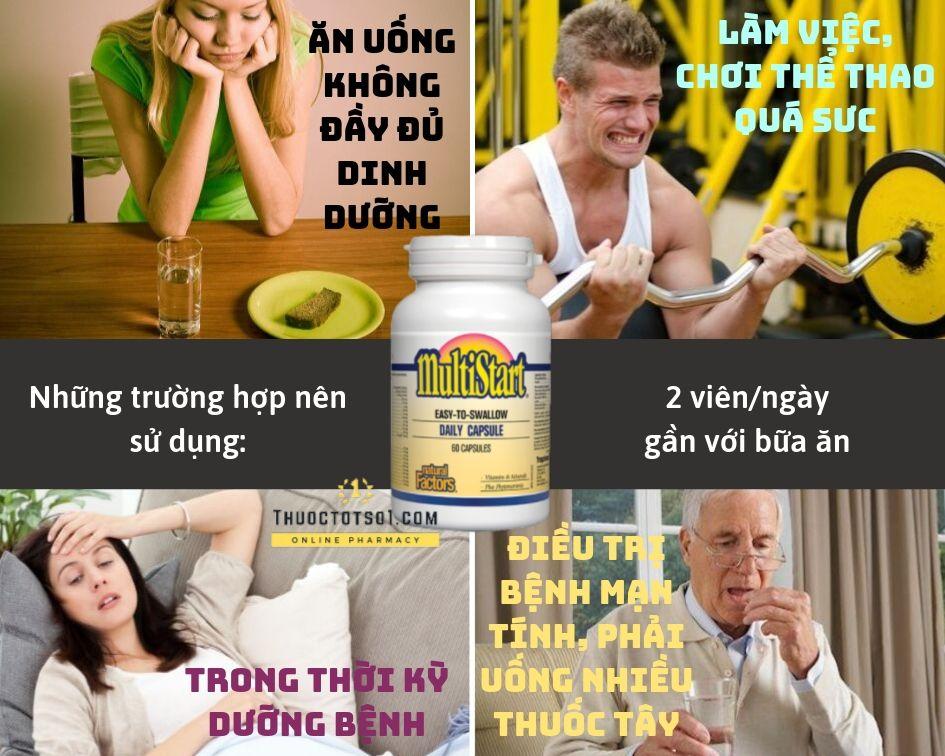 Thuốc Bổ Đa Năng - MultiStart - Bổ sung Vitamin & Khoáng chất được sử dụng cho nhiều đối tượng khác nhau