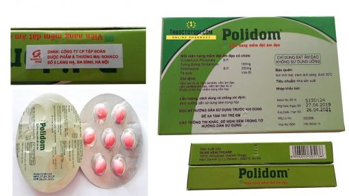 Polidom thuốc đặt phụ khoa 7 viên dạng trứng chính hãng