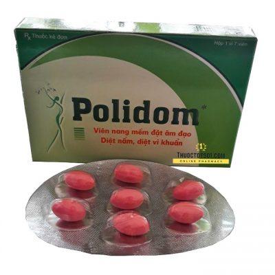 Polidom thuốc đặt phụ khoa 7 viên dạng trứng Sohaco Pharma
