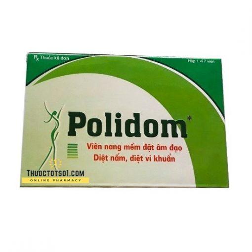 Polidom thuốc đặt phụ khoa 7 viên dạng trứng thuoctotso1.com