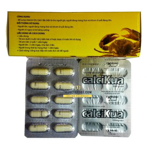 Calcikua bổ sung canxi, vitamin D3 và DHA giao hàng tận nhà