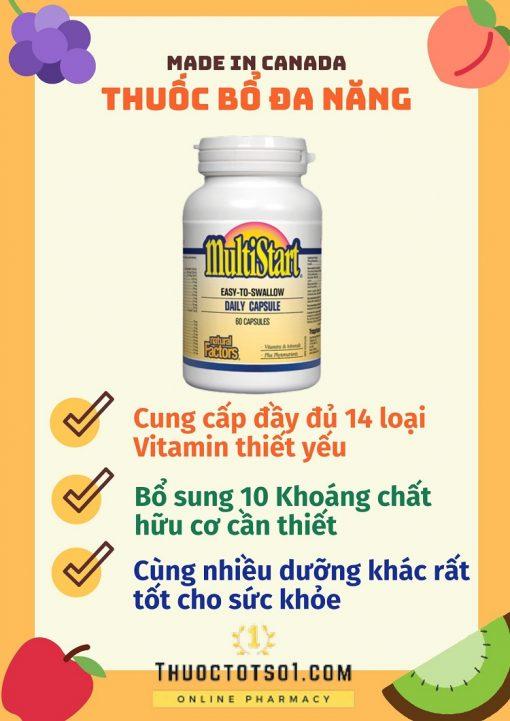 Multistart cung cấp vitamin và bổ sung khoáng chất