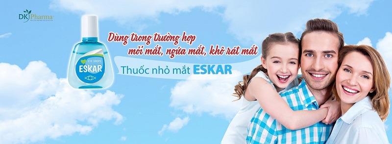 thuốc nhỏ mắt Eskar chẳng ngại bụi đường xa dùng cho cả gia đình