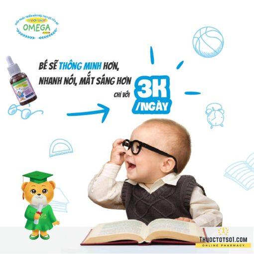 Fitobimbi Omega Junior giúp trẻ phát triển trí tuệ thông minh sáng mắt chỉ 3 ngàn mỗi ngày