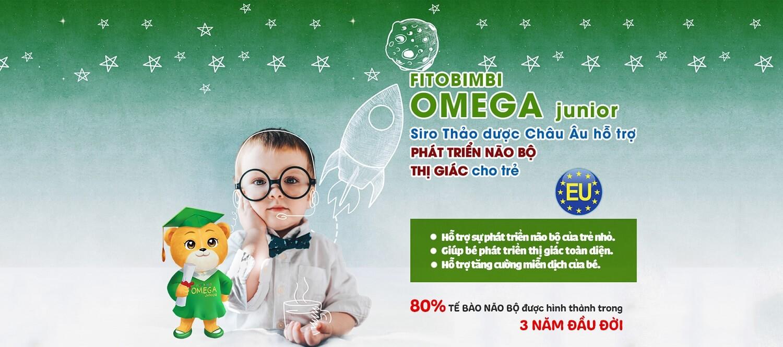 Fitobimbi Omega Junior giúp trẻ phát triển trí tuệ thông minh sáng mắt sản phẩm cao cấp