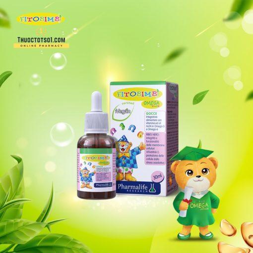 Fitobimbi Omega Junior giúp trẻ phát triển trí tuệ thông minh sáng mắt thuoctotso1
