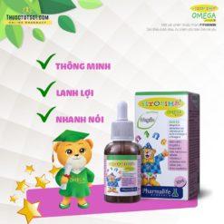 Fitobimbi Omega Junior giúp trẻ phát triển trí tuệ thông minh sáng mắt thương hiệu Italy