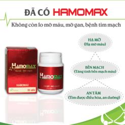 hamomax hạ mỡ máu bền thành mạch tim được điều hòa