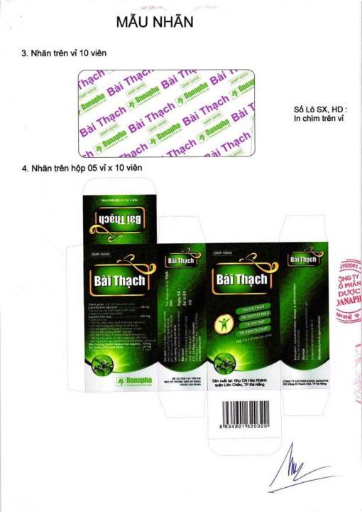 thuốc đông dược bài thạch chữa hết sạch sỏi thận danapha 2