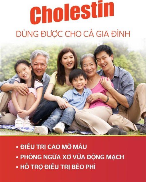 thuốc hạ mỡ máu cholestin thuốc đông dược ngăn ngừa cholesterol cho cả gia đình