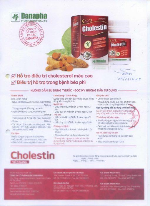 thuốc hạ mỡ máu cholestin thuốc đông dược ngăn ngừa cholesterol Danapha