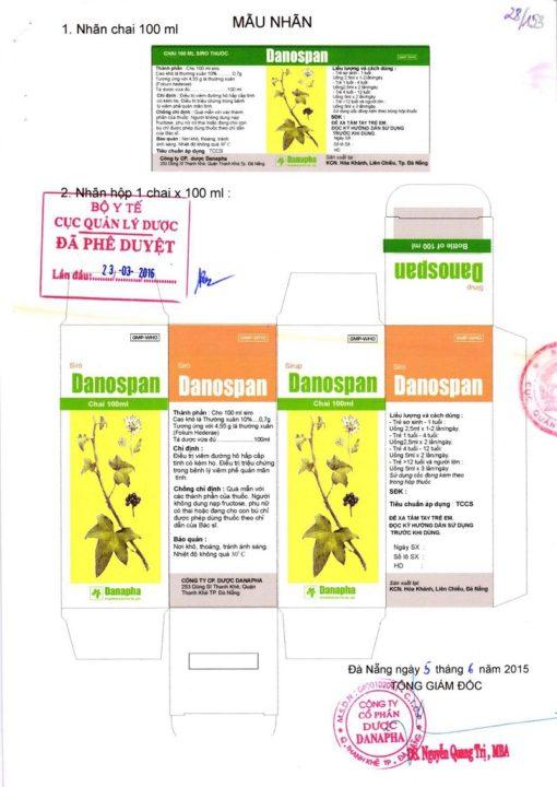 thuốc ho thảo dược Danospan người bạn của đường hô hấp Bộ Y tế kiểm duyệt