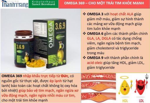 Omega 369 dầu hạt lanh cung cấp acid béo từ thực vật giúp giảm mỡ máu