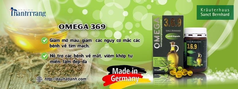 Omega 369 dầu hạt lanh cung cấp acid béo từ thực vật nhập khẩu Đức