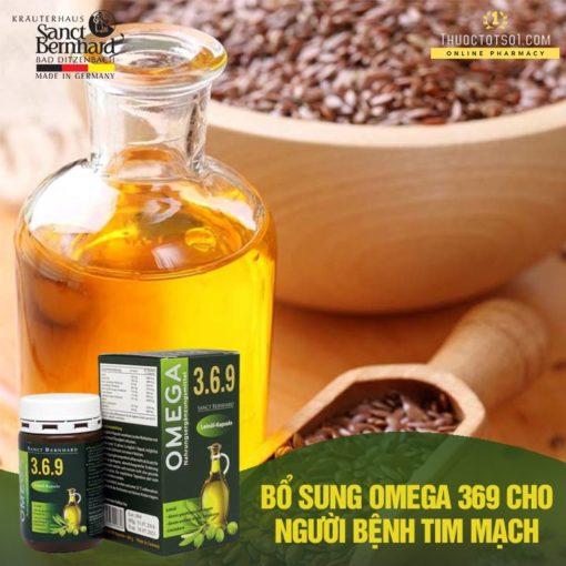 Omega 369 dầu hạt lanh cung cấp acid béo từ thực vật tốt cho tim mạch