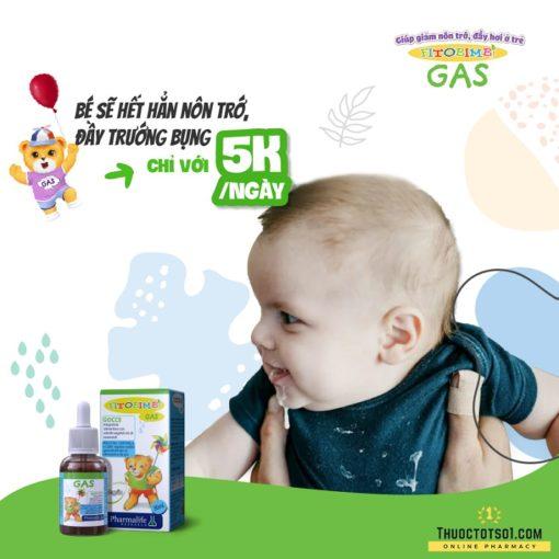Fitobimbi Gas giúp trẻ hết nôn trớ ọc sữa đầy bụng khó tiêu chỉ 5 ngan mỗi ngày