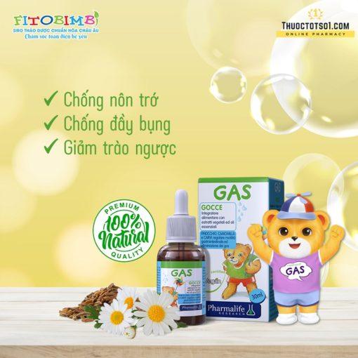 Fitobimbi Gas giúp trẻ hết nôn trớ ọc sữa đầy bụng khó tiêu nhập khẩu châu Âu