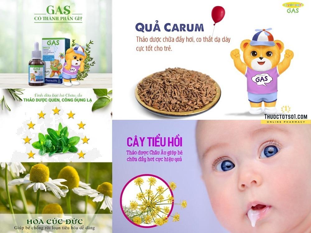 Fitobimbi Gas giúp trẻ hết nôn trớ ọc sữa đầy bụng khó tiêu thảo dược chuẩn hóa