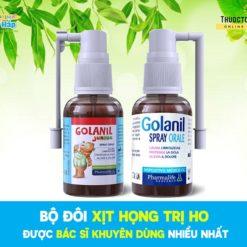 xịt họng trẻ em Golanil Junior hết ho hết viêm họng bác sĩ khuyên dùng