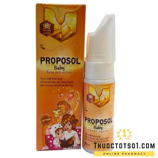 Xịt mũi keo ong Proposol baby tái tạo niêm mạc mũi