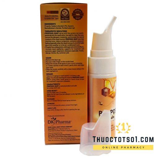 Xịt mũi keo ong Proposol baby tái tạo niêm mạc mũi an toàn tiện lợi