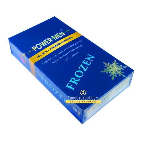 bao cao su Power Men Frozen bạc hà mát lạnh 12 chiếc