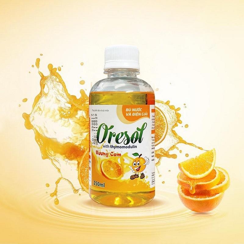 Dung dịch Oresol kết hợp thymomodulin 250ml hương cam