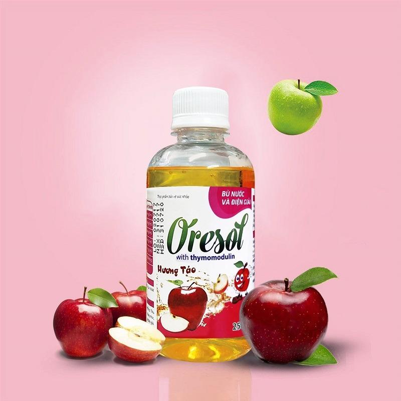 Dung dịch Oresol kết hợp thymomodulin 250ml hương táo