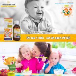 Fitobimbi Appetito siro trị biếng ăn cho trẻ 3 tác động toàn diện chỉ sau 4 tuần