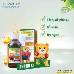 Fitobimbi Ferro C siro bổ máu phòng ngừa thiếu sắt tăng đề kháng