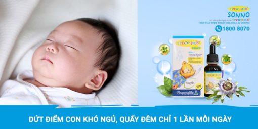 Fitobimbi Sonno giúp bé ngủ ngon không còn khó chịu 1 lần mỗi ngày
