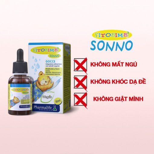 Fitobimbi Sonno giúp bé ngủ ngon không còn khó chịu giật mình quấy khóc