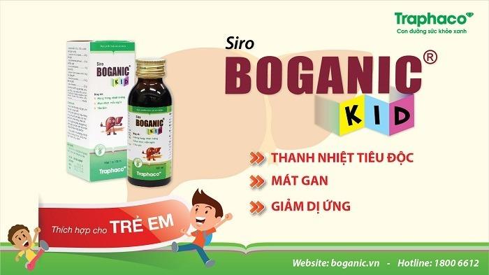 siro thảo dược Boganic Kid mát gan tiêu độc giảm dị ứng cho trẻ Traphaco