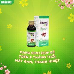 siro thảo dược Boganic Kid mát gan tiêu độc giảm dị ứng cho trẻ trên 6 tháng