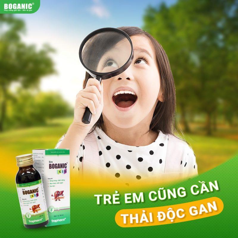 siro thảo dược Boganic Kid trẻ em cũng cần thải độc gan thuoctotso1