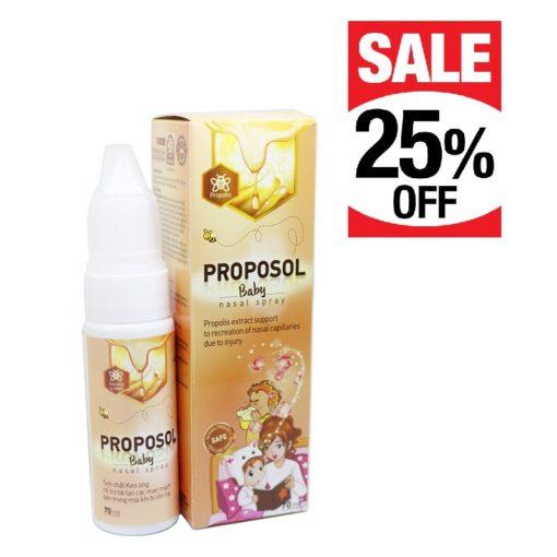 Xịt mũi keo ong Proposol baby tái tạo niêm mạc mũi thuoctotso1