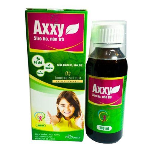siro bổ phế Axxy trị ho đau rát cổ họng viêm đường hô hấp thuoctotso1