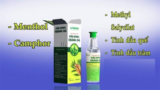 dầu nóng xoa bóp Quảng Đà giảm đau nhức tan vết bầm thảo dược