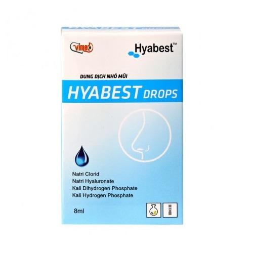 Dung dịch nhỏ mũi Hyabest hết ngay khô mũi thuoctotso1