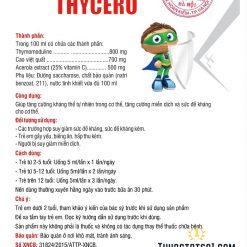 siro Thycero hỗ trợ trẻ ốm vặt sức đề kháng kém đăng ký quảng cáo