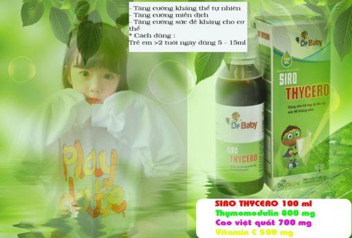 siro Thycero hỗ trợ trẻ ốm vặt sức đề kháng kém nâng cao miễn dịch
