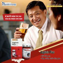 Arginin Plus 500mg hỗ trợ chức năng gan nhập khẩu Đức giảm tác hại bia rượu