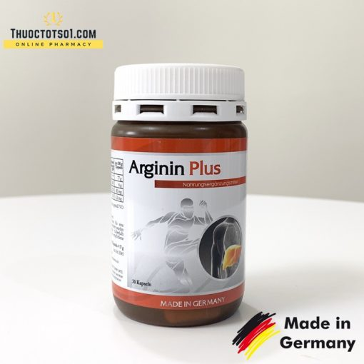 Arginin Plus 500mg hỗ trợ chức năng gan nhập khẩu Đức hộp 30 viên