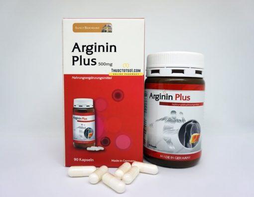 Arginin Plus 500mg hỗ trợ chức năng gan nhập khẩu Đức hộp 90 viên