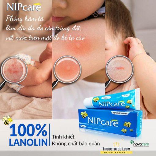kem trị nứt núm vú Nipcare lanolin 100% tinh khiết