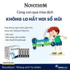 Novothym siro thảo dược châu âu chống viêm đường hô hấp an toàn hiệu quả khi sử dụng lâu dài
