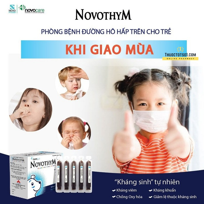 Novothym siro thảo dược châu âu chống viêm đường hô hấp CPC1HN sản xuất