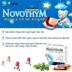 Novothym siro thảo dược châu âu chống viêm đường hô hấp giảm lệ thuộc kháng sinh