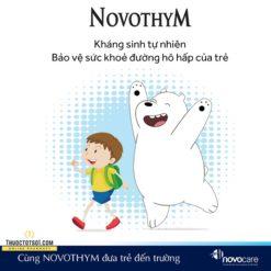 Novothym siro thảo dược châu âu chống viêm đường hô hấp kháng sinh tự nhiên