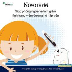 Novothym siro thảo dược châu âu chống viêm đường hô hấp Novopharm